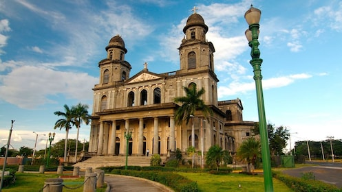 The old cathedral of Managua on a sunny day