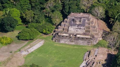 Overhead view of the Altun Ha Maya Site in Belize