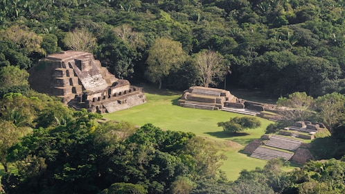 Beautiful view of the Altun Ha Maya Site in Belize