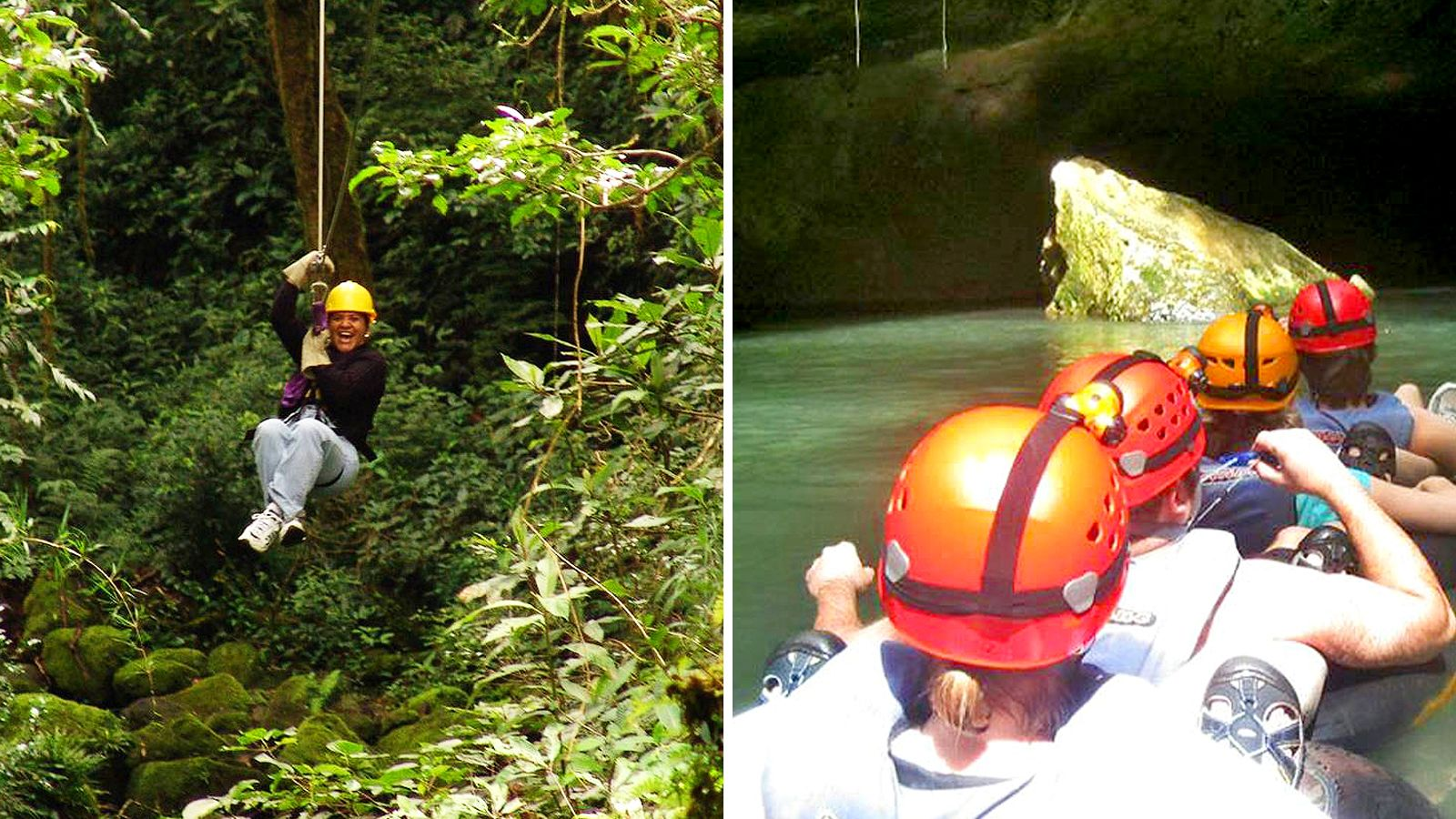 Jungle Zipline & Cave Tubing Adventure