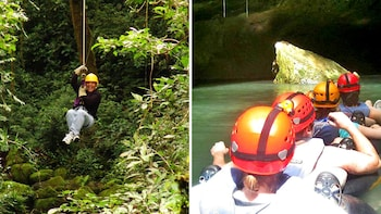 Jungle Zipline & Cave Tubing Adventure