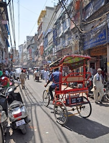 A rickshaw or Cyclo in one of the world's largest markets - Chandri Chowk_shutterstock_174726878.jpg