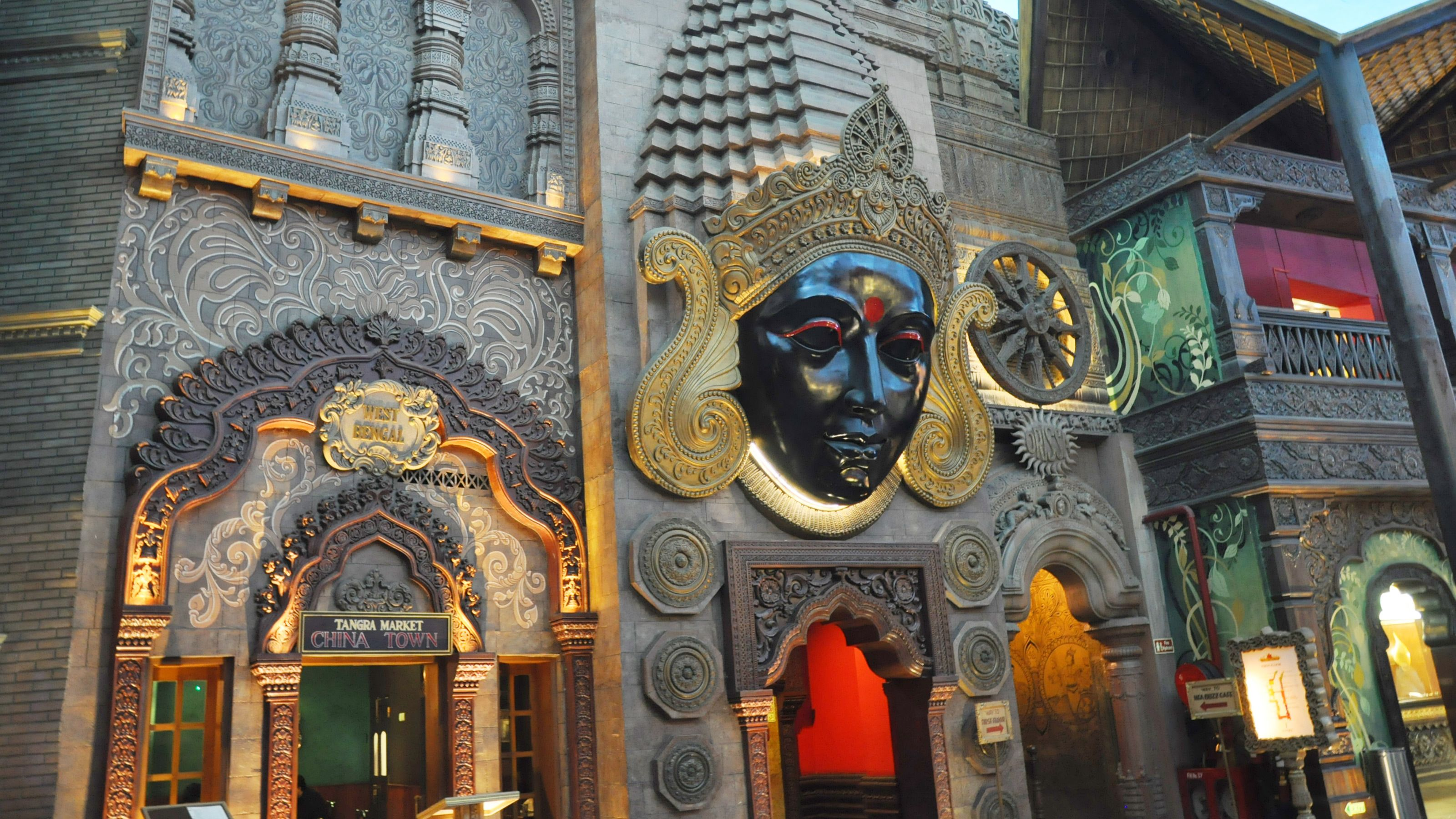 Ornate decorations at the Kingdom of Dreams