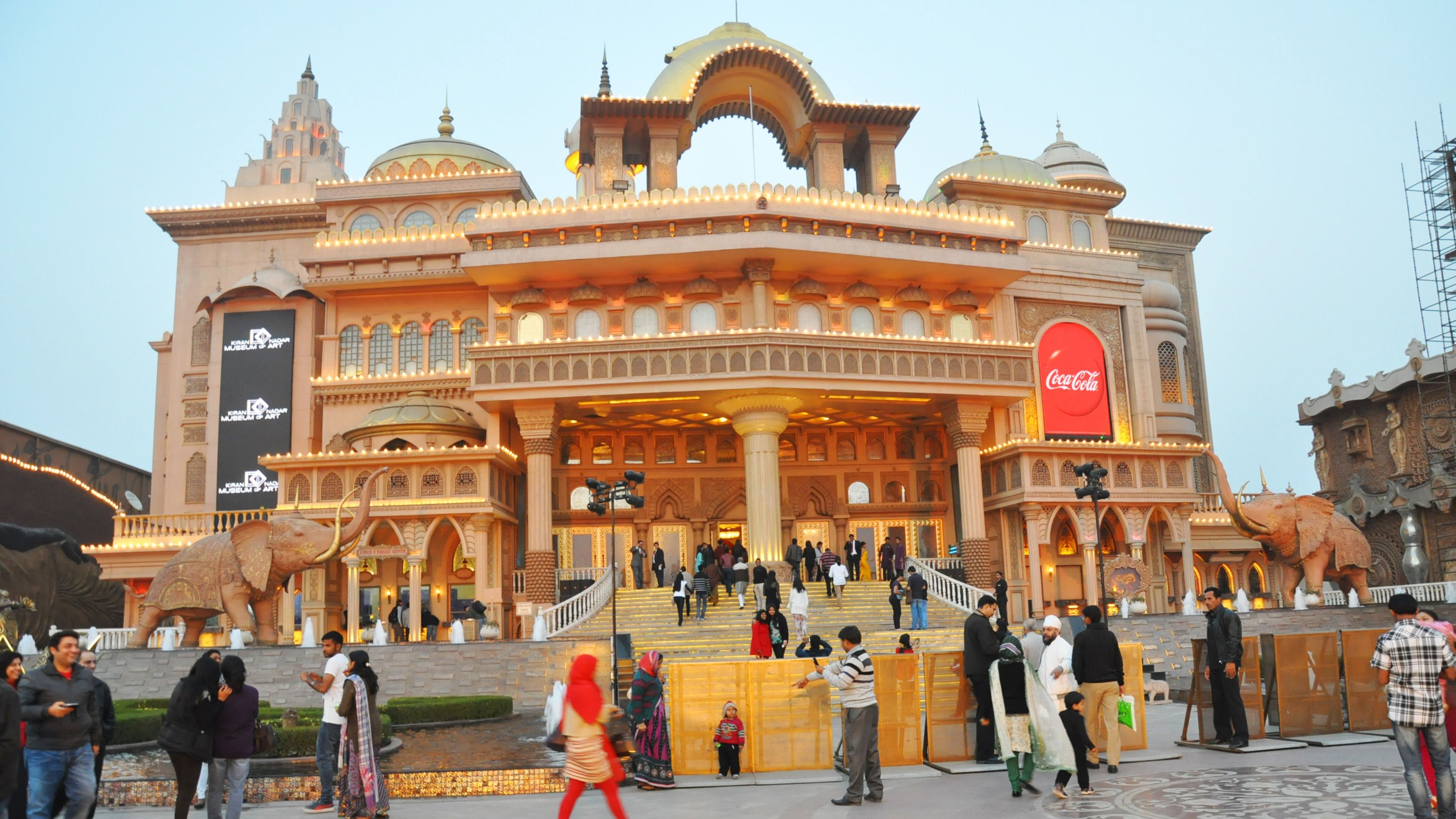 Exterior of the Kingdom of Dreams theater