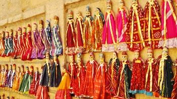 Spectacle de marionnettes de Jaipur Kathputli avec dîner et transferts priv...