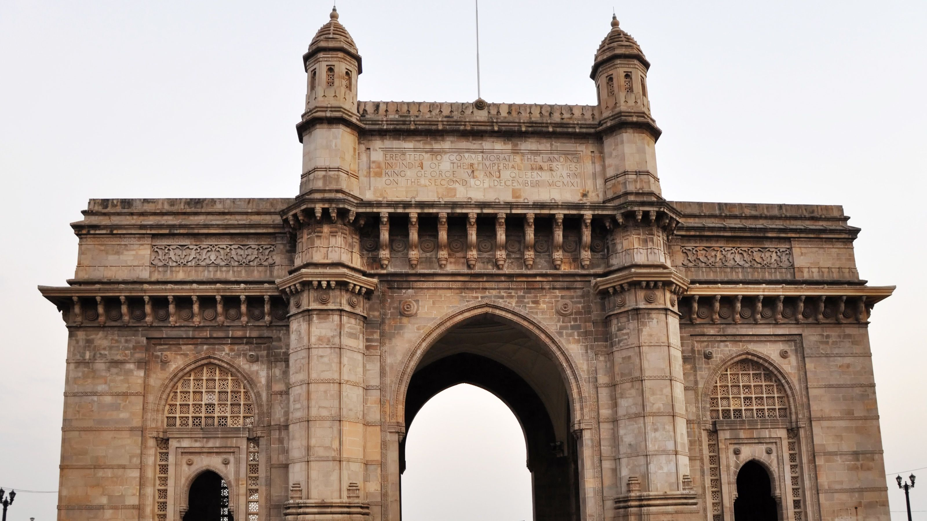 An ancient stone gate in Mumbai