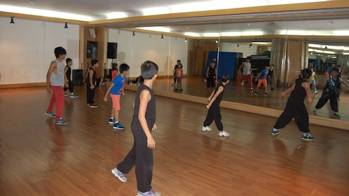 Dancers practicing at a Bollywood studio in mumbai