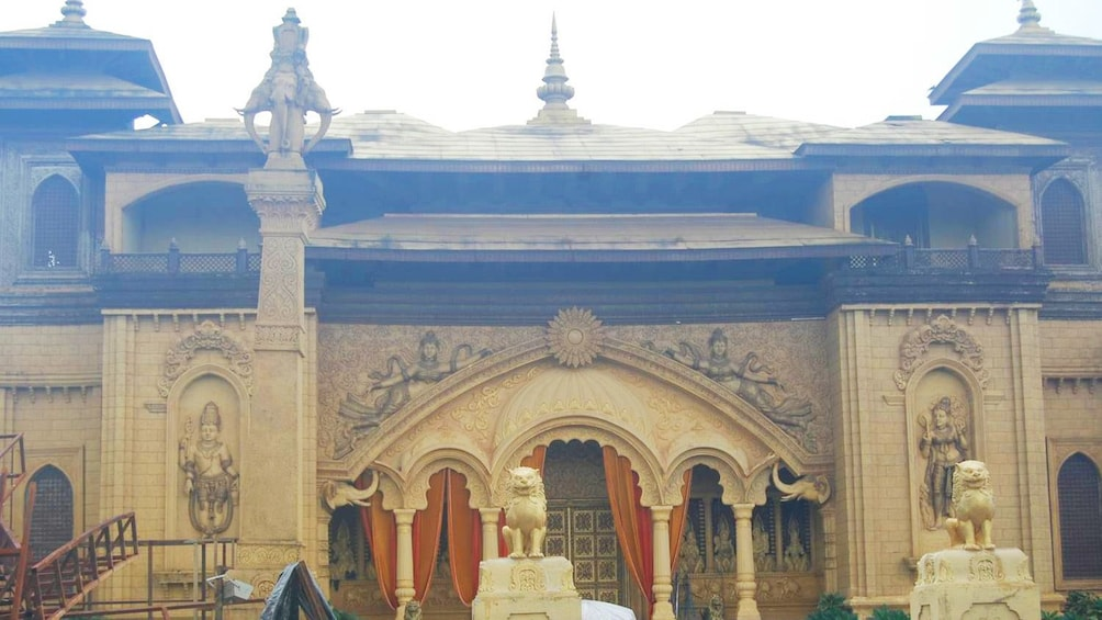 Show item 7 of 7. Ornate set at a Bollywood studio in Mumbai