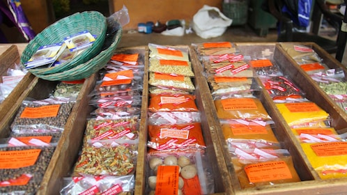 packaged goods at the market in Goa