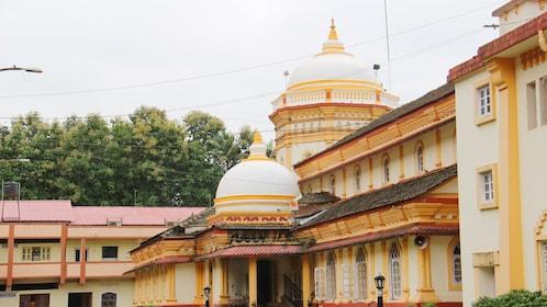domed structure at the Shri Shantadurga Temple complex in Goa