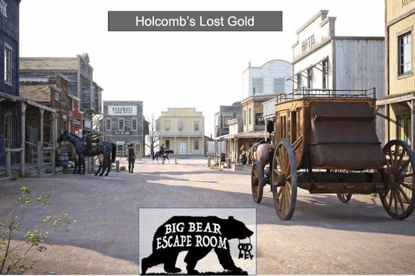 Show item 1 of 1. Holcomb's Lost Gold - Old West Escape Room