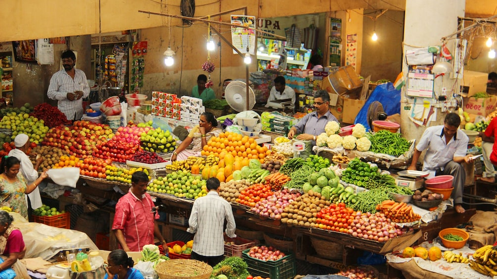 Show item 4 of 5. fresh produce at the market in Goa