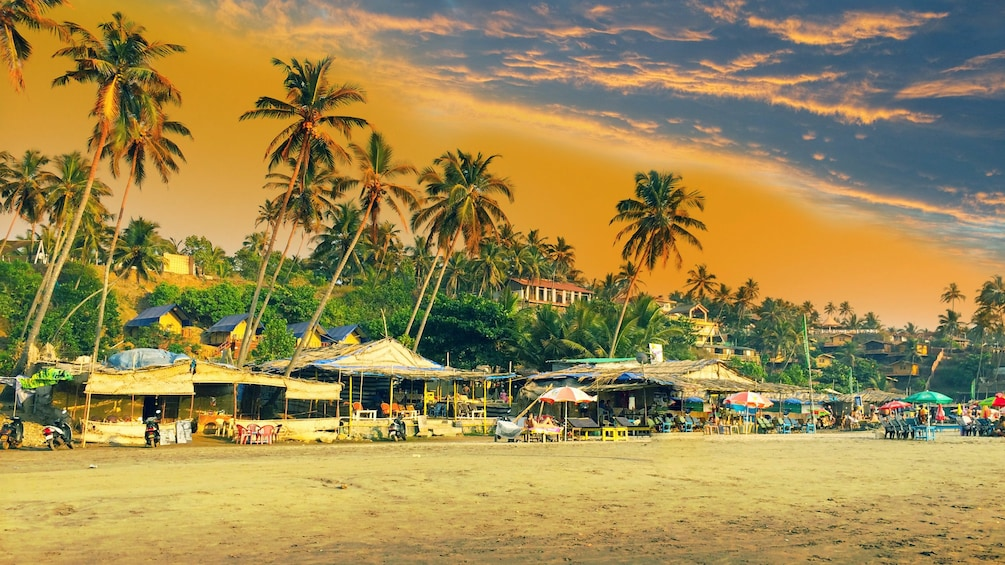 Show item 5 of 5. small business establishments along the beach in Goa