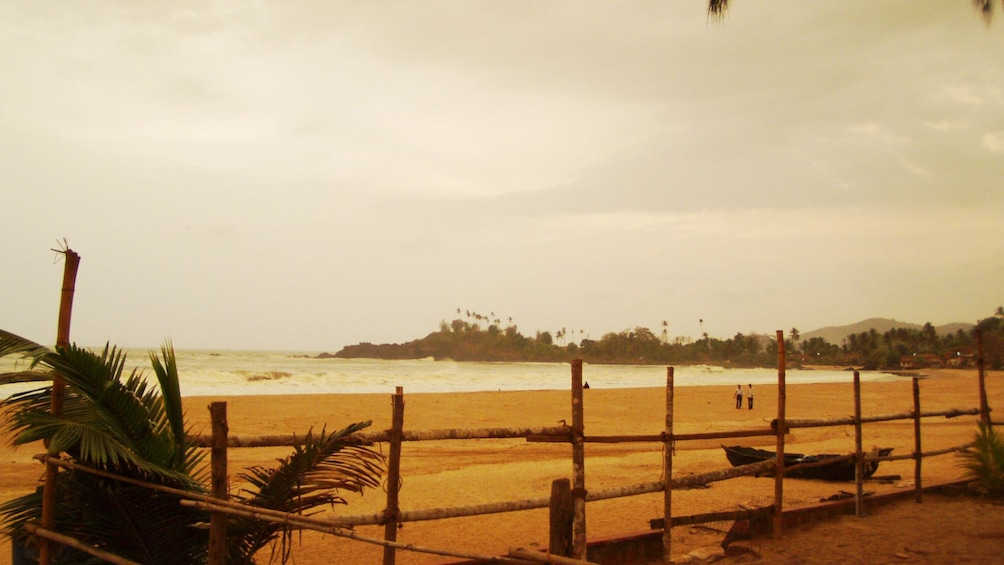 Show item 3 of 5. hazy day at the beach in Goa