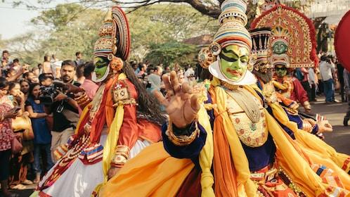 Traditional Kathakali dance on New Year carnival in Fort Kochi (Cochin), Kerala, India_shutterstock_357225734.jpg