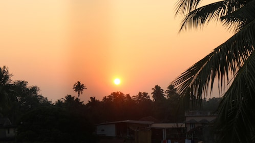 sunset view in india