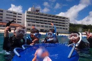 【OKINAWA / Motobu / Nakijin】 Beach Snorkelling Course for only one group in...