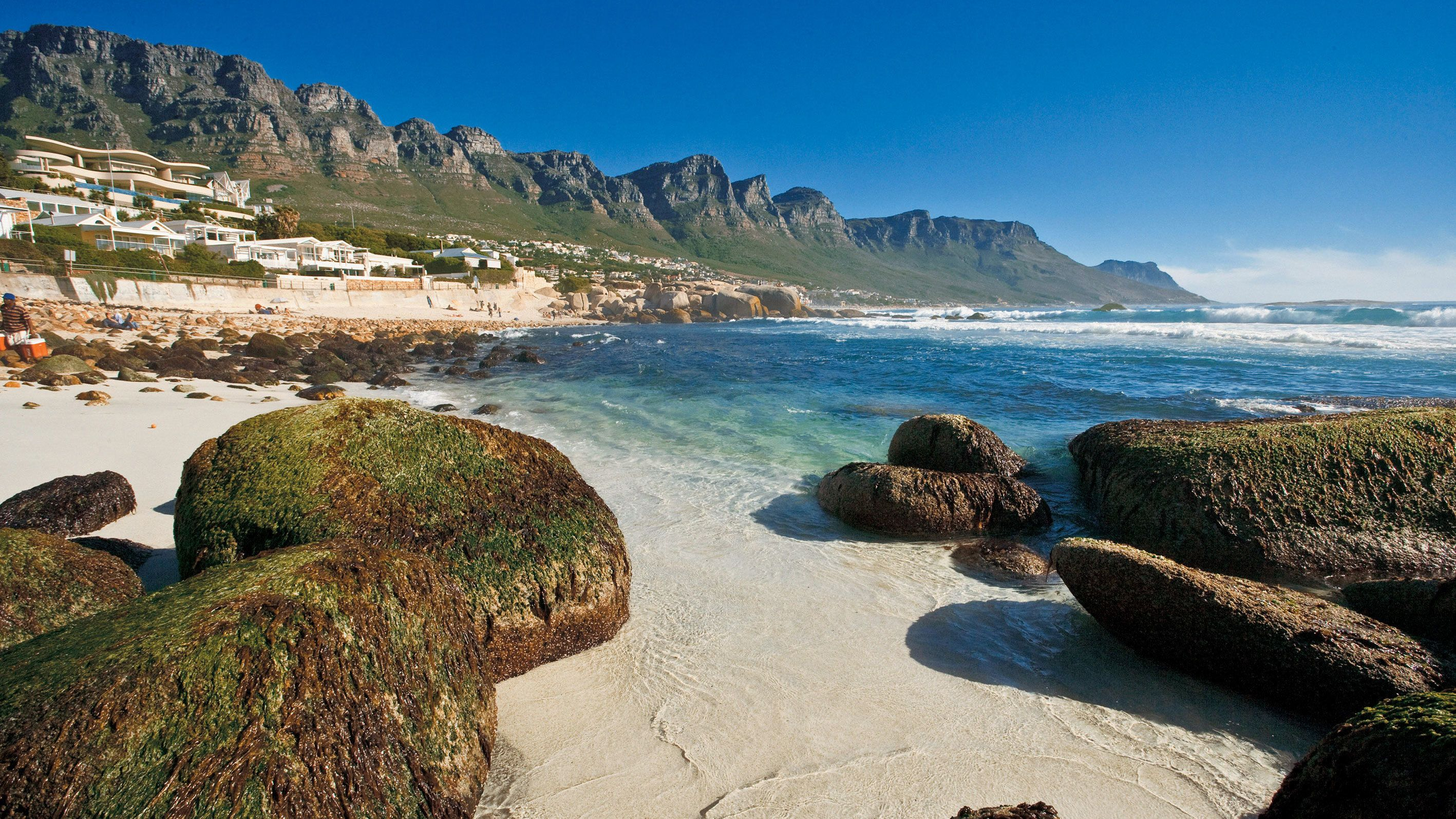 Low tide at the beach in Cape Town