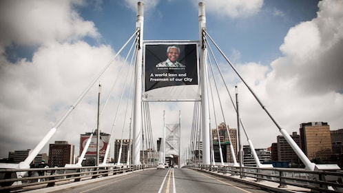 Suspension bridge leading into Soweto South Africa