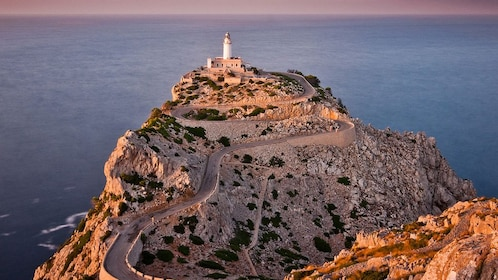 A lighthouse on a cliff in Mallorca