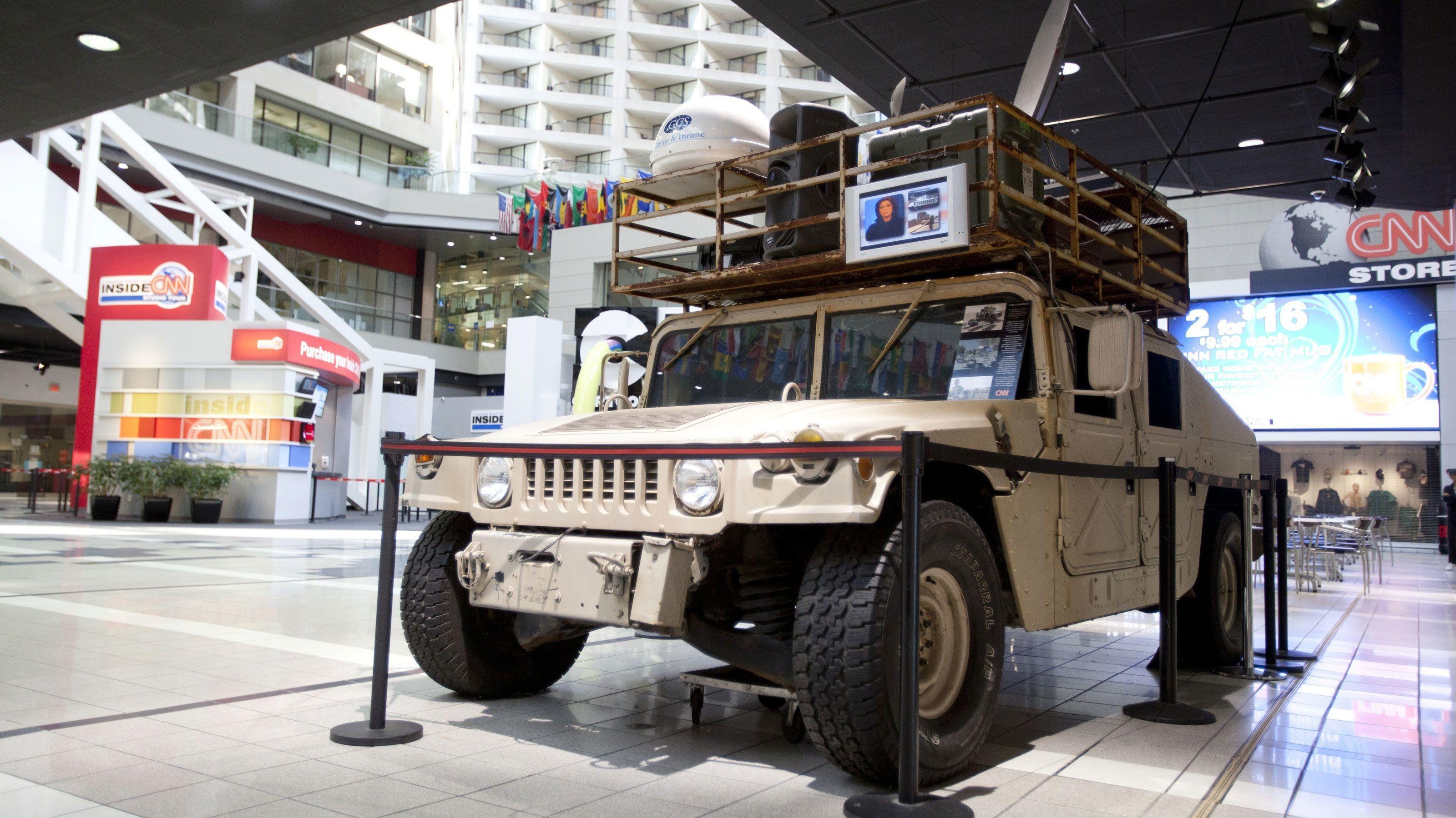 Humvee CNN news vehicle