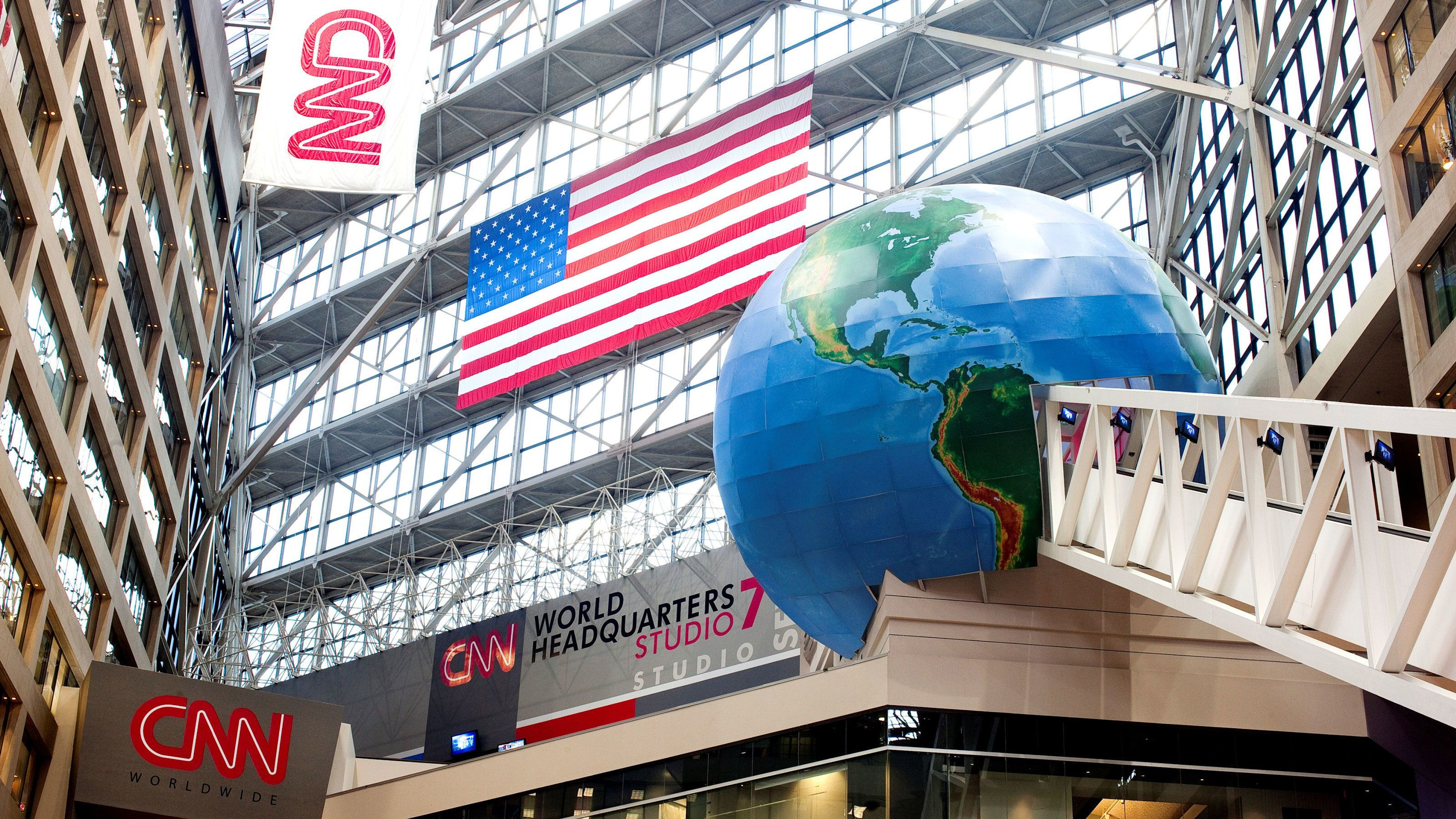 Entrance to CNN's studios in Atlanta