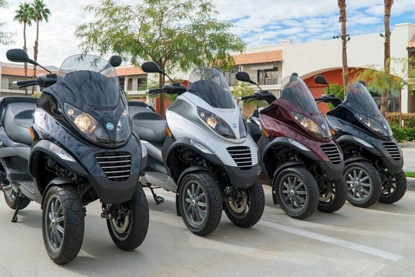 Show item 4 of 15. Modern Piaggio MP3 Luxury Scooter Rentals