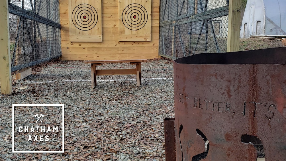 Show item 1 of 5. Axe Throwing Training