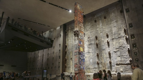 Large structure on display at the National September 11 Memorial and Museum in New York