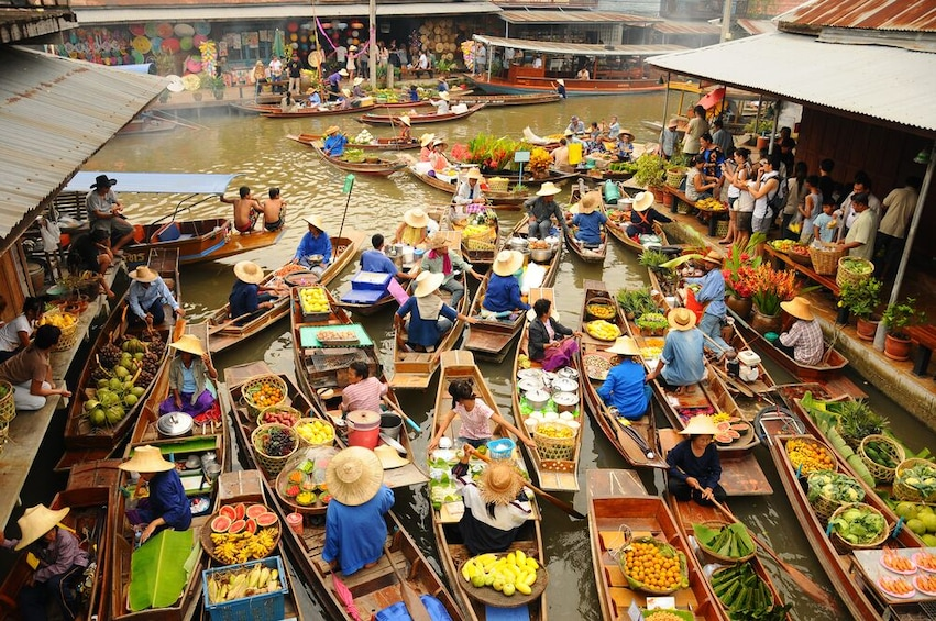 Show item 4 of 7. Private Guide Weekend Amphawa Floating Market Tour