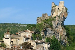 Day tour to Puicelsi, Bruniquel, Castelnau, Saint Antonin. From Toulouse.