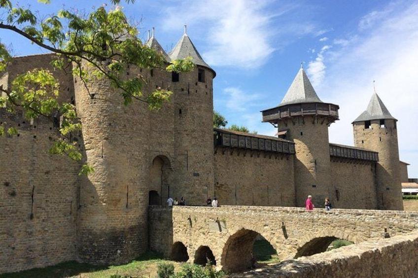 Show item 1 of 6. Day tour : Cité Carcassonne, Lastours castles belvedère,Canal du midi. From Albi