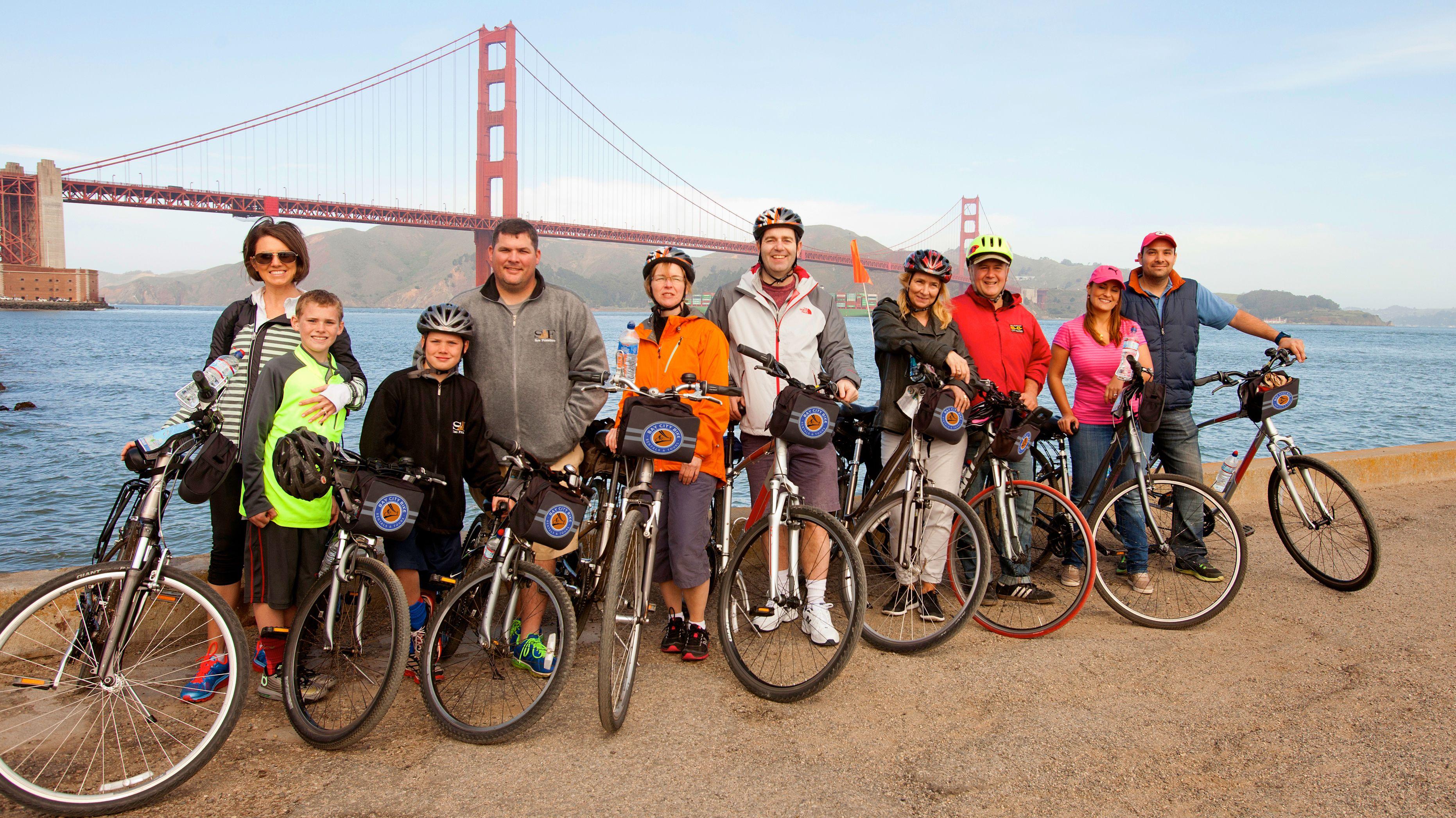 Visite guidée à vélo du pont du Golden Gate à Sausalito