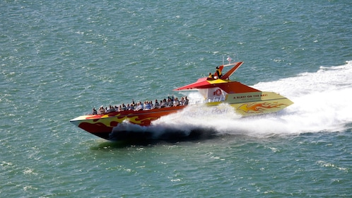 Rocket Boat speeding on the water in San Francisco