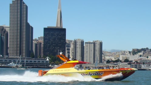 Rocket Boat with the city behind in San Francisco