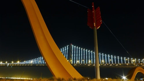 Large bow and arrow artwork in San Francisco
