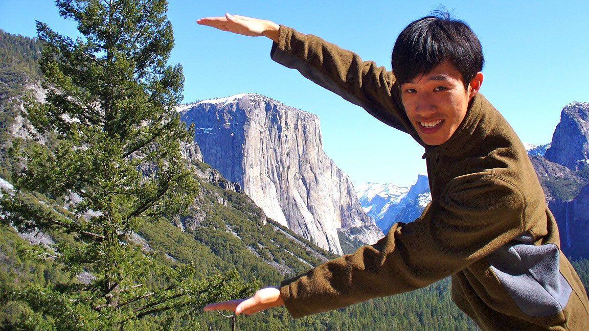 Man in Yosemite National Park