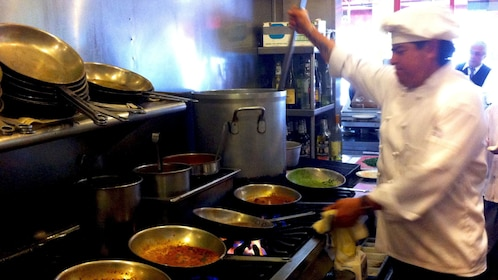 Chef in a restaurant kitchen in San Francisco