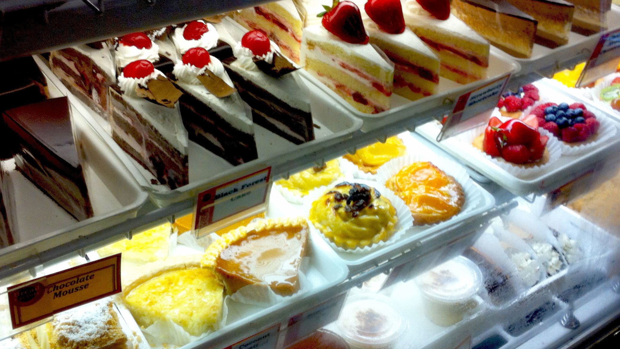 Pastry display case