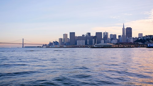 The city of San Francisco from the water at dusk