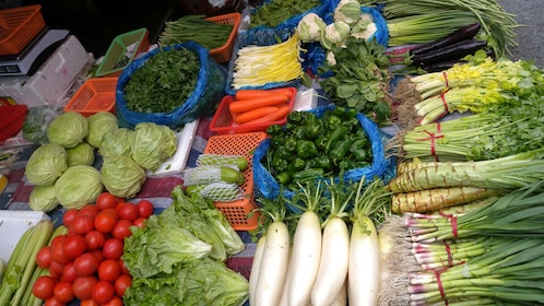 Fresh farmer produce at the market in Beijing