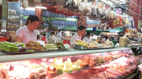 View of a meat deli in Ho Chi Minh City
