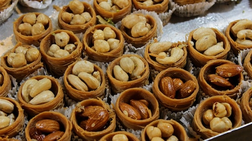 Nut pastries at the Spice Bazaar in Istanbul