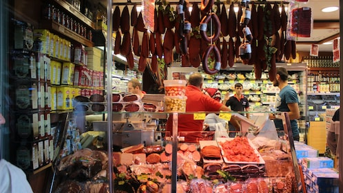 Meet deli at the bazaar in Istanbul