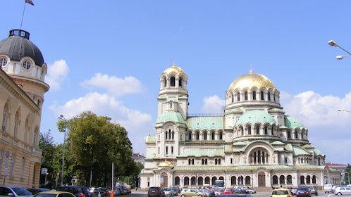 golden domed building in Sofia
