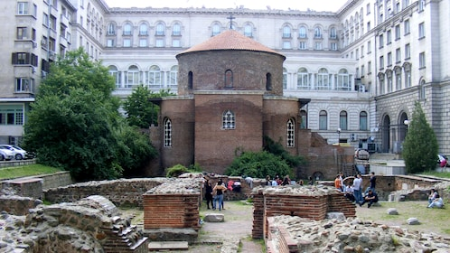 old ruins of Church of Saint George in Sofia