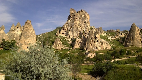 Landscape view of Göreme Open Air Museum in Cappadocia