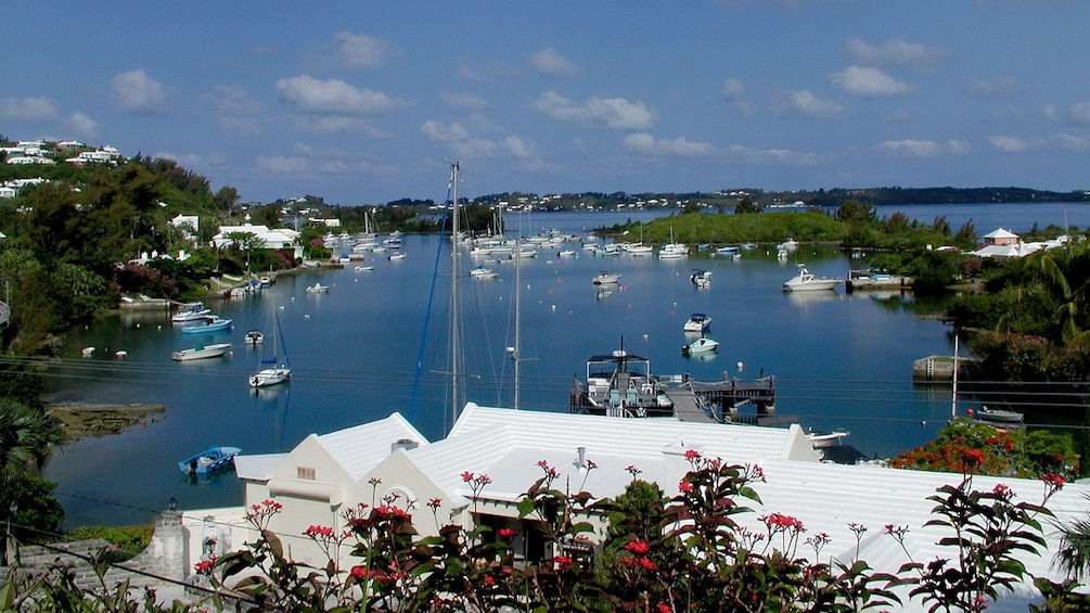 Show item 1 of 4. Gorgeous view of the boats and docks in Bermuda's west end