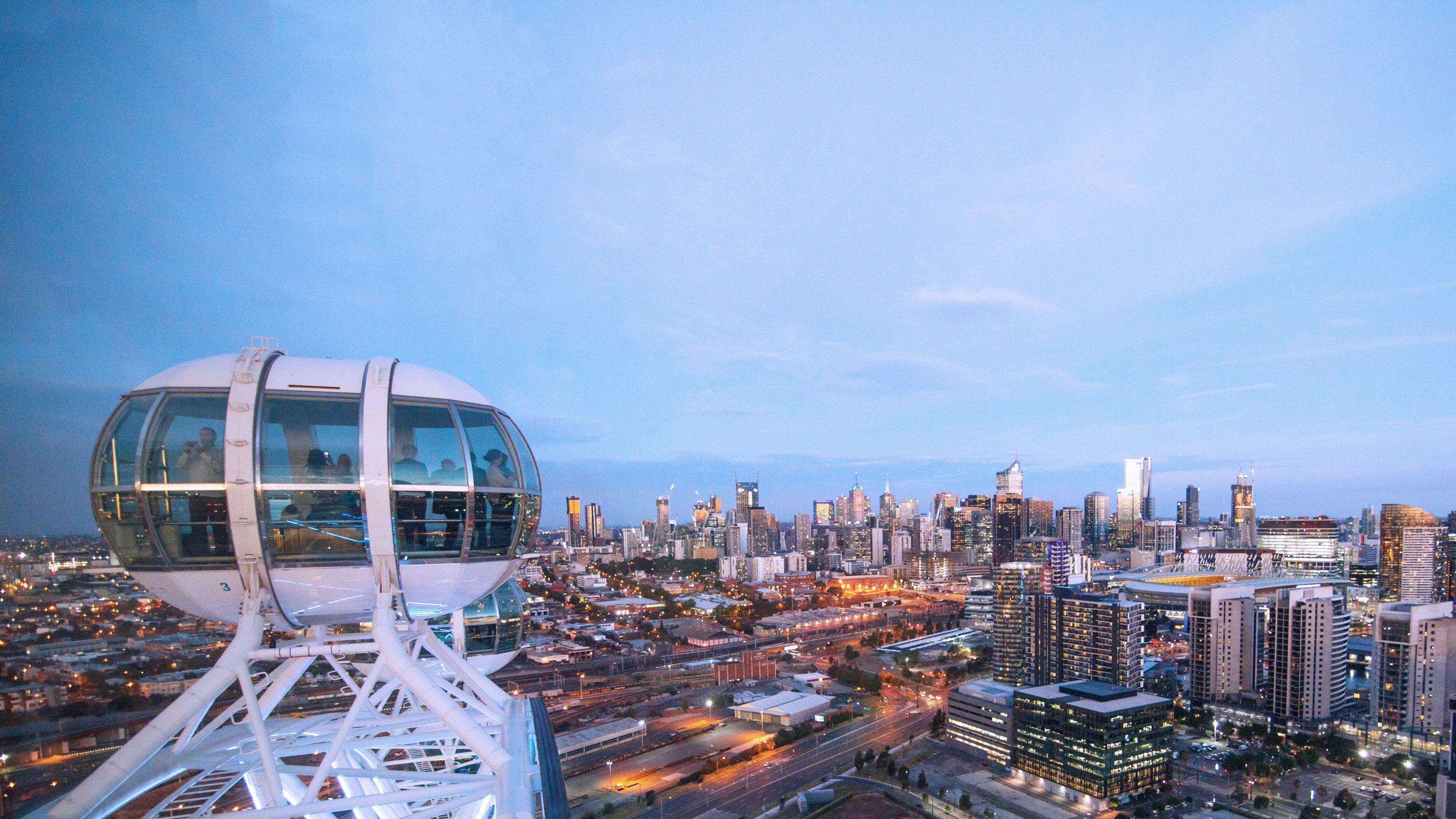 High up in the Melbourne Star Observation Wheel in Melbourne