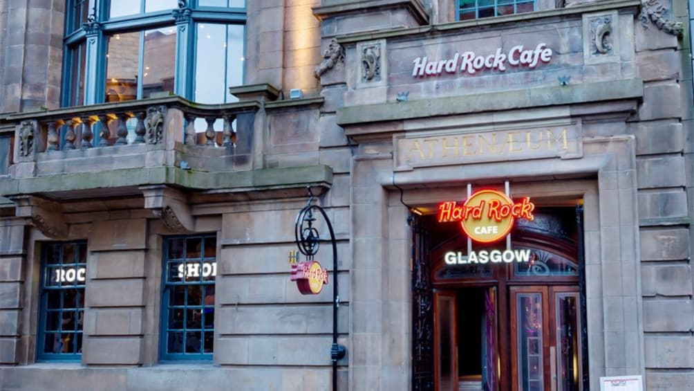 Show item 1 of 10. Front of Hard rock cafe in Glasgow